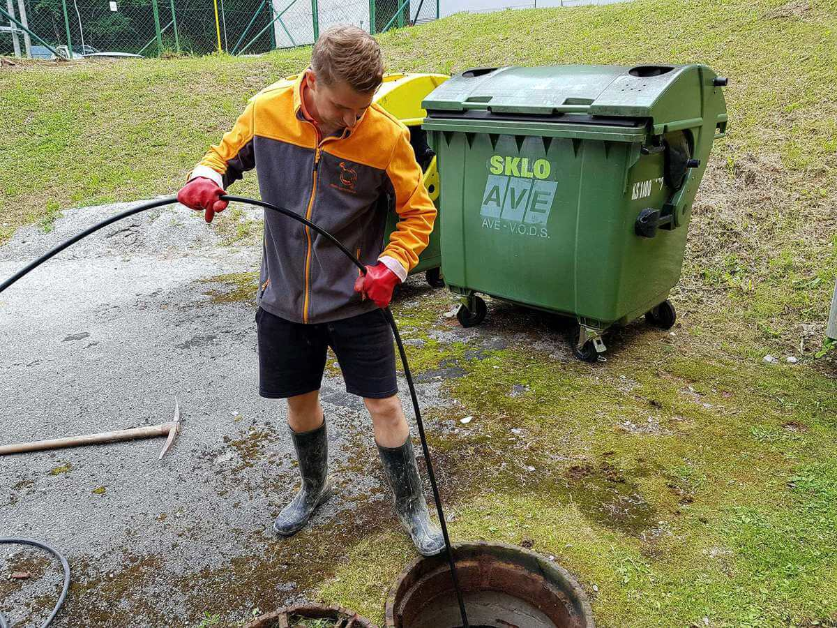 Vysokotlakové prebíjanie odpadov